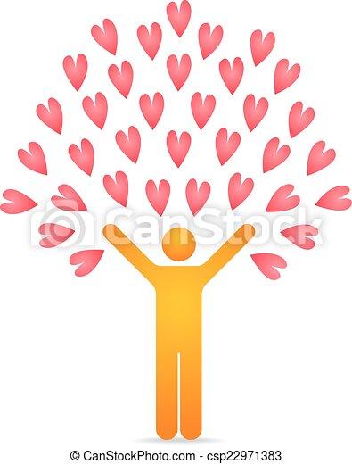 amor, árvore - csp22971383