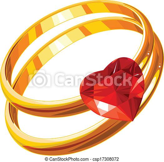amor, anéis - csp17308072