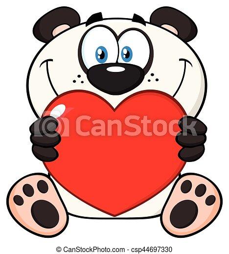 La Mascota De Los Osos Panda Sonrientes De Dibujos Animados Que