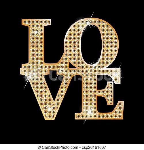 amor, cartas, oro - csp28161867
