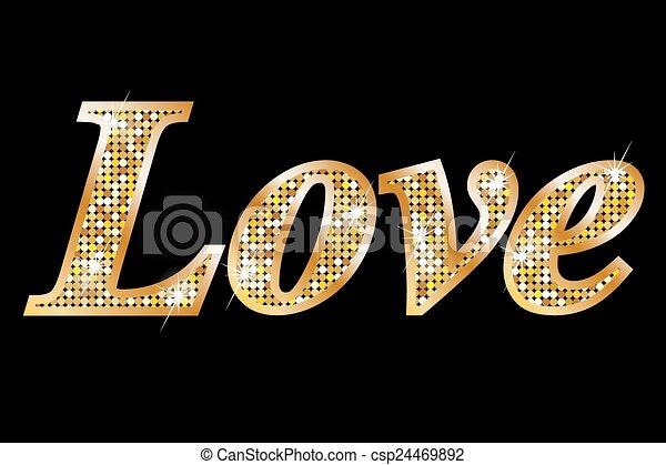 amor, cartas, oro - csp24469892