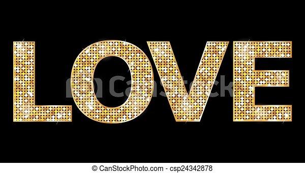 amor, cartas, oro - csp24342878