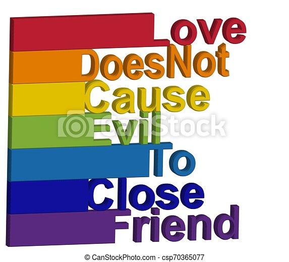 Concepto Lgbt Frase Motivadora En Los Colores Del Arco Iris