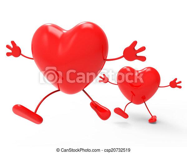 Amor Compasivo Valentine Corazones Día Exposiciones Amor