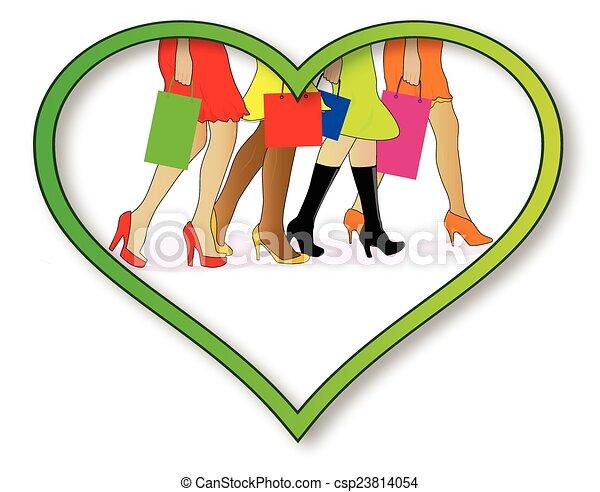 Me encanta ir de compras - csp23814054