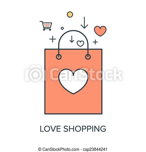 Me encanta ir de compras - csp23844241