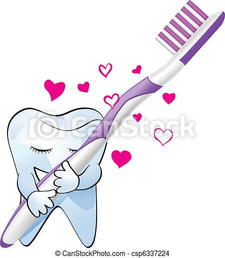 Amor de dientes - csp6337224