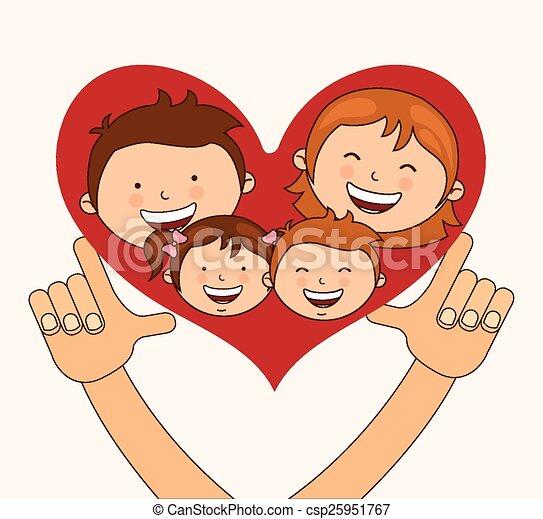Gráfico Amor Familia Ilustración Vector Eps10 Diseño