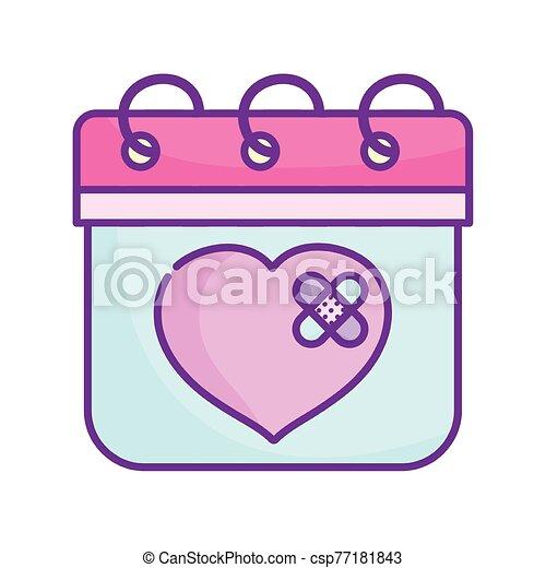 amor, feliz, corazón, lindo, vendas, triste, día, ayuda, valentines, primero - csp77181843