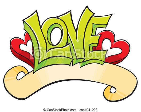amor, graffiti - csp4941223