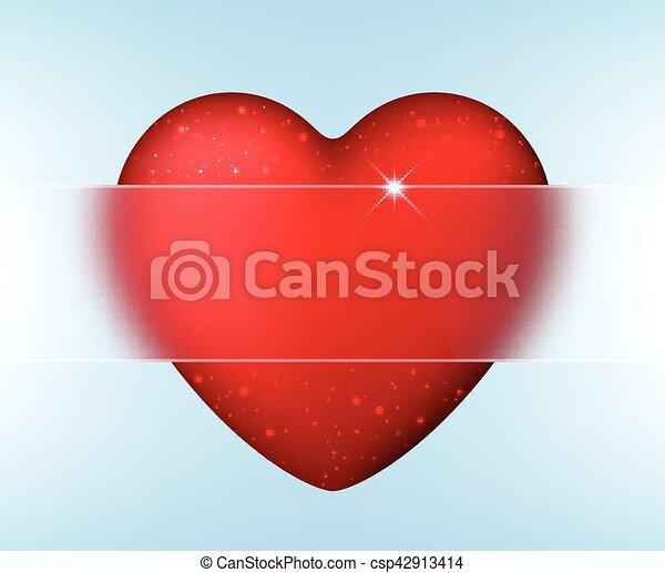 El fondo de amor de San Valentín con corazón. - csp42913414