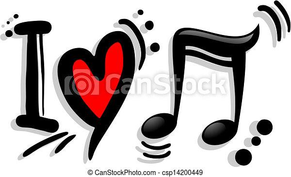Me encanta la música - csp14200449