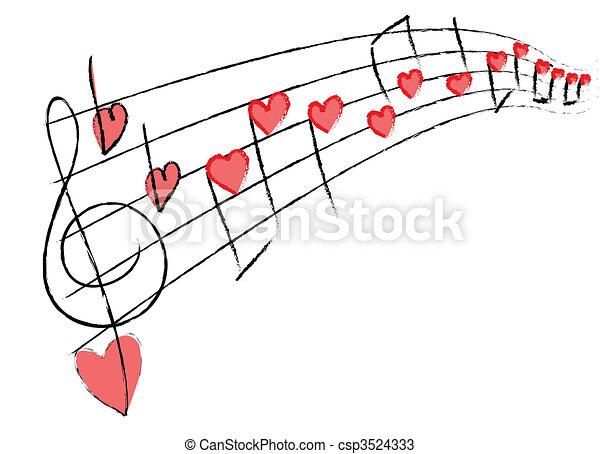 amor, música - csp3524333