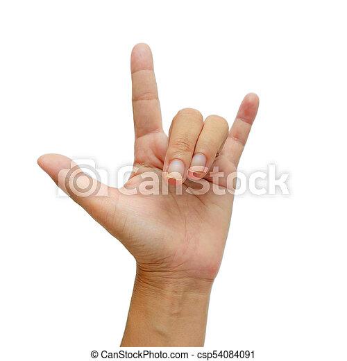 Signo De Mano Que Significa Que Te Amo En Fondo Blanco Signo De Mano Que Significa Te Amo En Fondo Blanco Para El Concepto Canstock