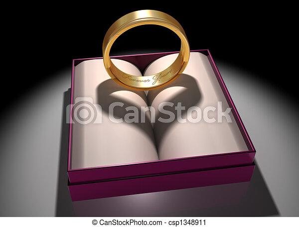 amor, matrimonio - csp1348911