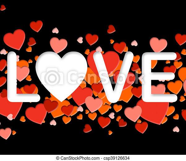 Amor Medios Compasivo Cariño Palabra Cariño Amantes Palabra