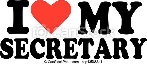 Amo a mi secretaria - csp43568641