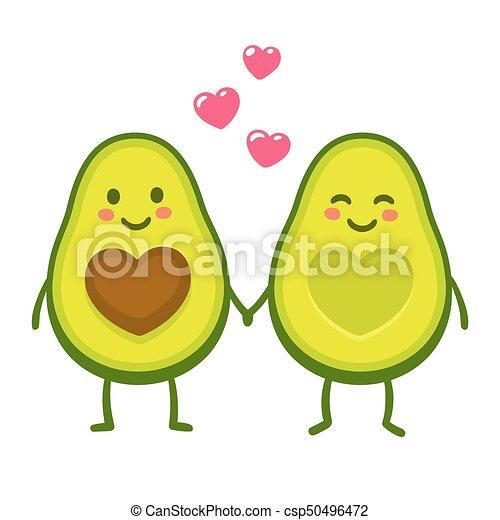 amor, par, abacate - csp50496472
