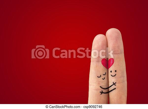 ? Una pareja feliz enamorada - csp9092746