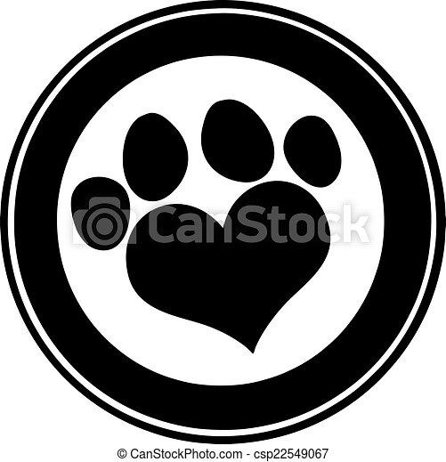 Me encanta la bandera del círculo negro - csp22549067