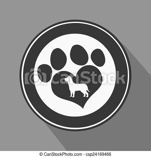 Me encanta el icono del círculo negro - csp24169466