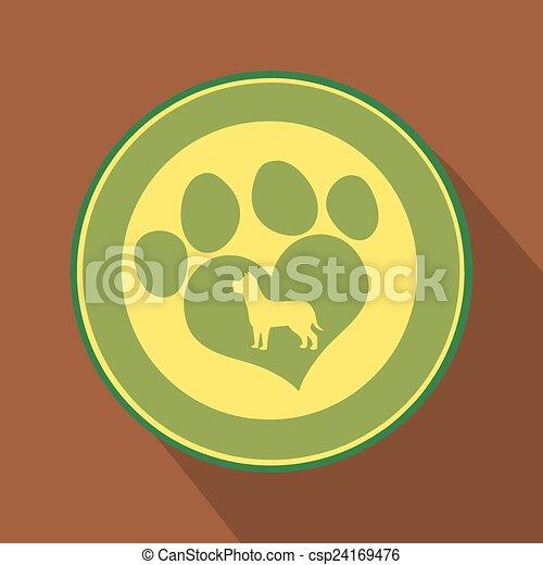 Me encanta el icono del círculo verde - csp24169476