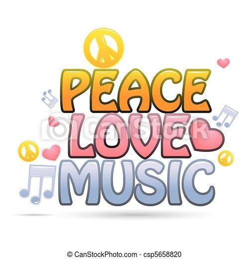 amor, paz, música - csp5658820