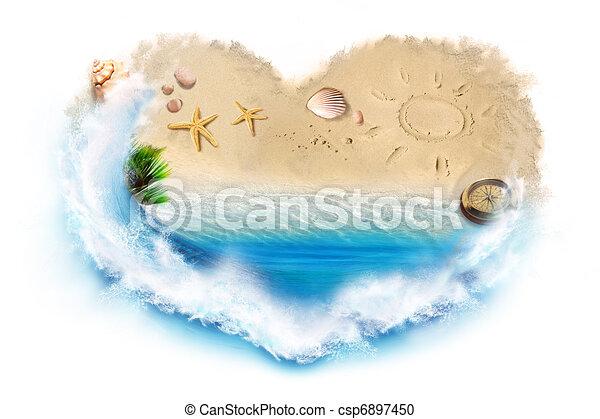 Me encanta la playa - csp6897450