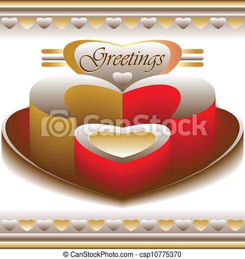 amor, saudações, cartão - csp10775370