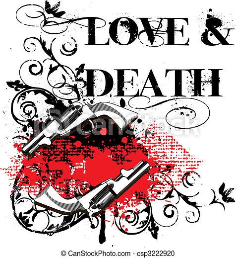 Amor y muerte - csp3222920