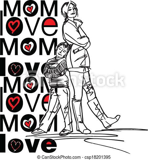 amore, mamma - csp18201395