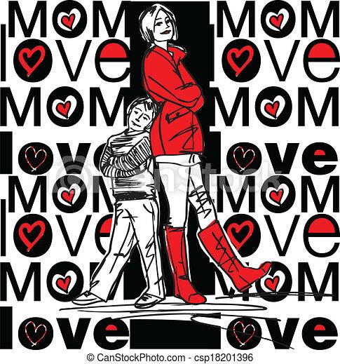 amore, mamma - csp18201396