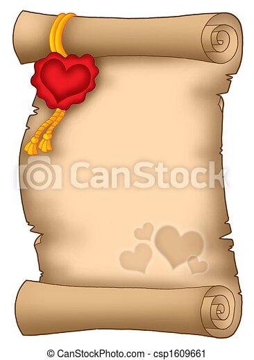 amore, pergamena - csp1609661