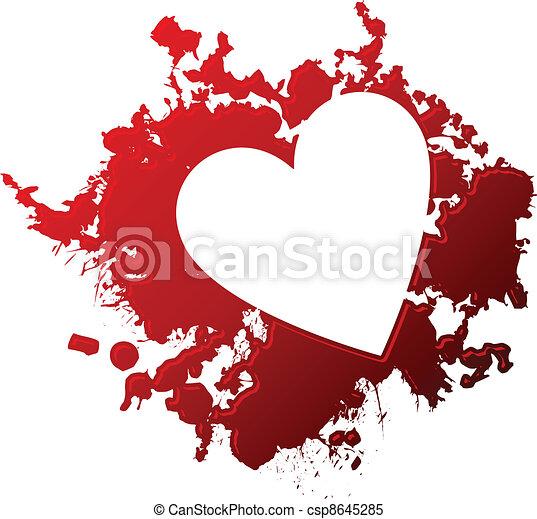 Amore Sanguinante Cuore Fuoriuscita Invertito Stilizzato
