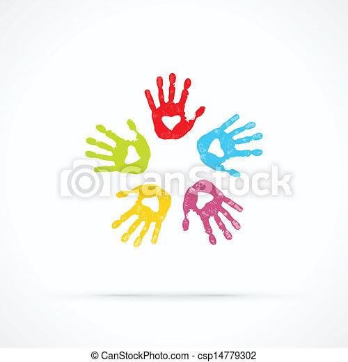 Manos amorosas unidas - csp14779302