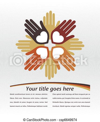Unida diseño de manos amorosas. - csp6649974