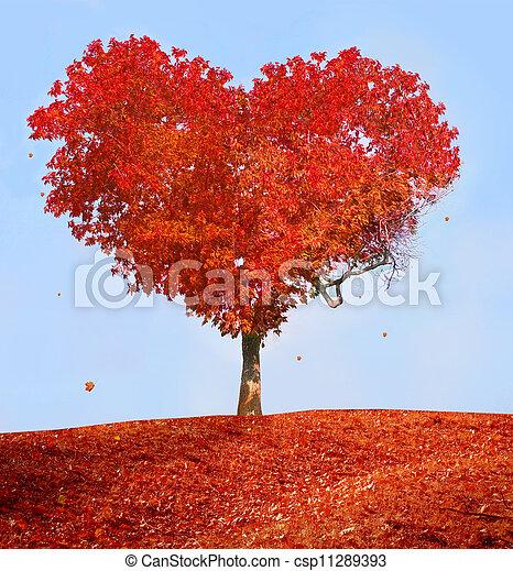 amour, arbre - csp11289393