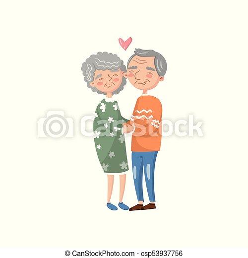 Amour Couple Illustration Vecteur Personne Agee Dessin Anime