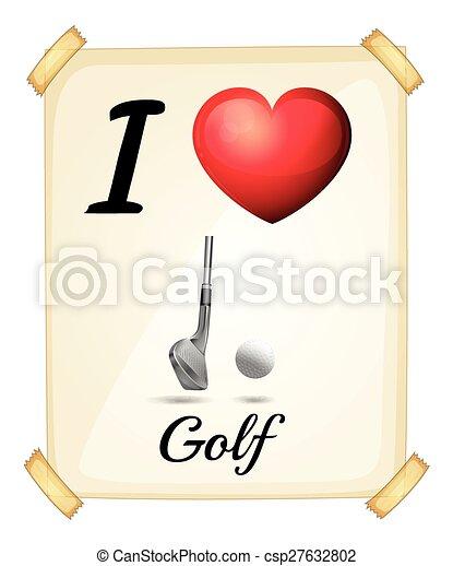 amour, golf - csp27632802