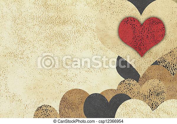 amour, grunge, fond, textured - csp12366954