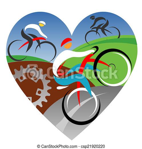 amour, nous, cyclisme - csp21920220