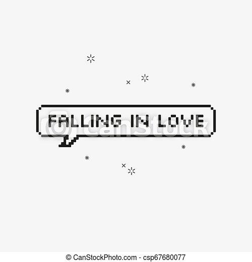 Amour Parole Tomber 8 Bit Bulle Pixel Art
