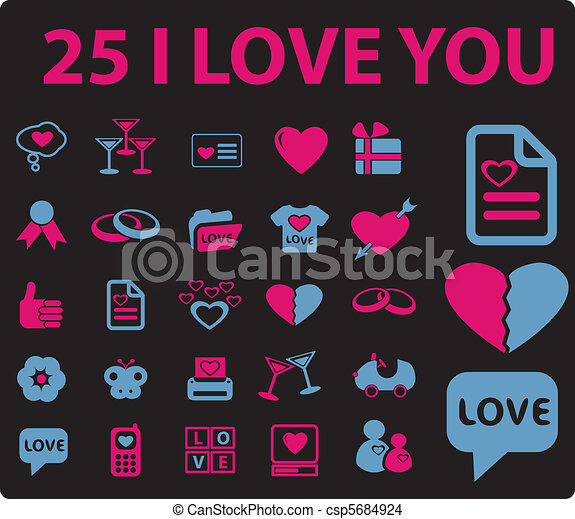 amour, signes - csp5684924