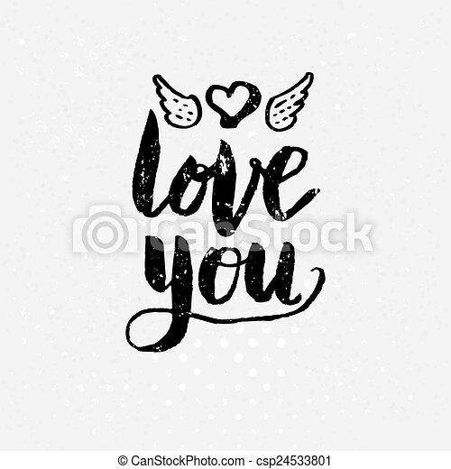 Amour Texte Arrière Plan Noir Vous Blanc