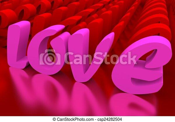 amour, valentineçs jour, fond - csp24282504