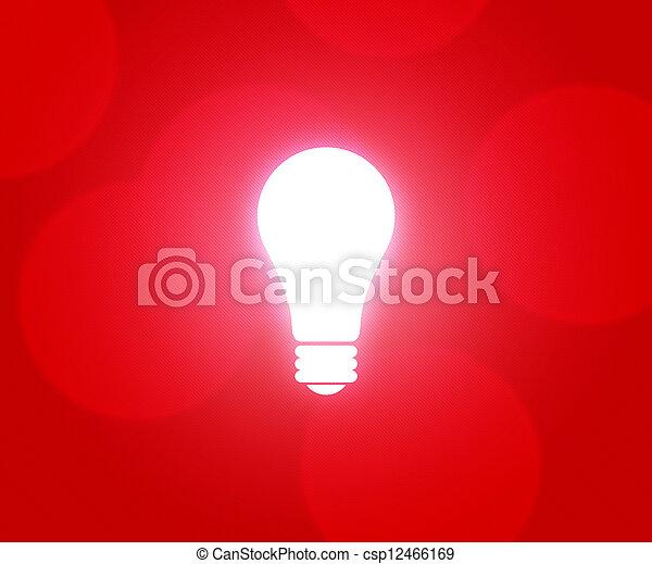 ampoule, arrière-plan rouge - csp12466169