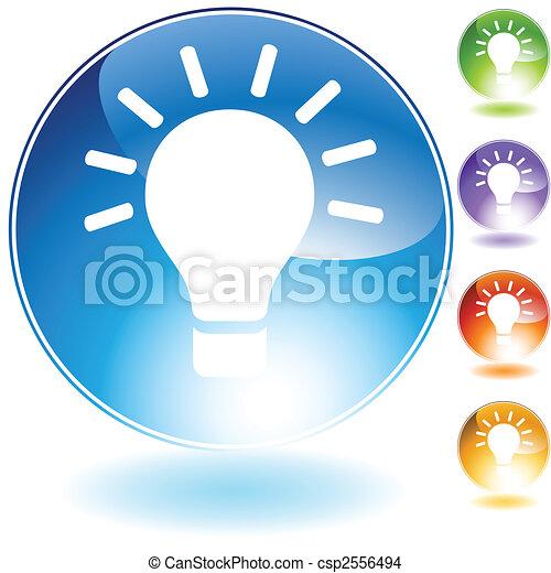 ampoule, icône - csp2556494