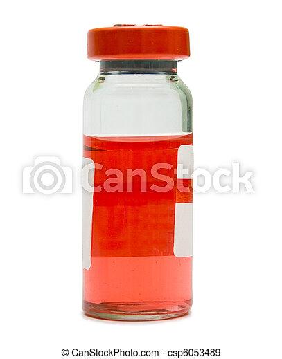 ampule with a red medicine - csp6053489