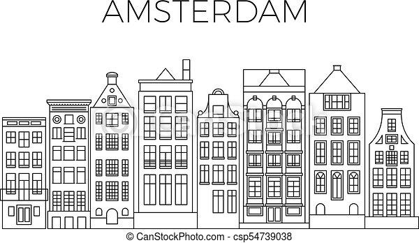 Kleurplaat Verjaardag Pake Hollandse Huisjes Tekening Kleurplaat Villa Holland