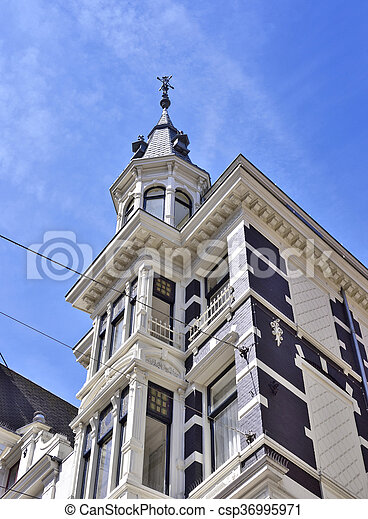 Amsterdam houses - csp36995971